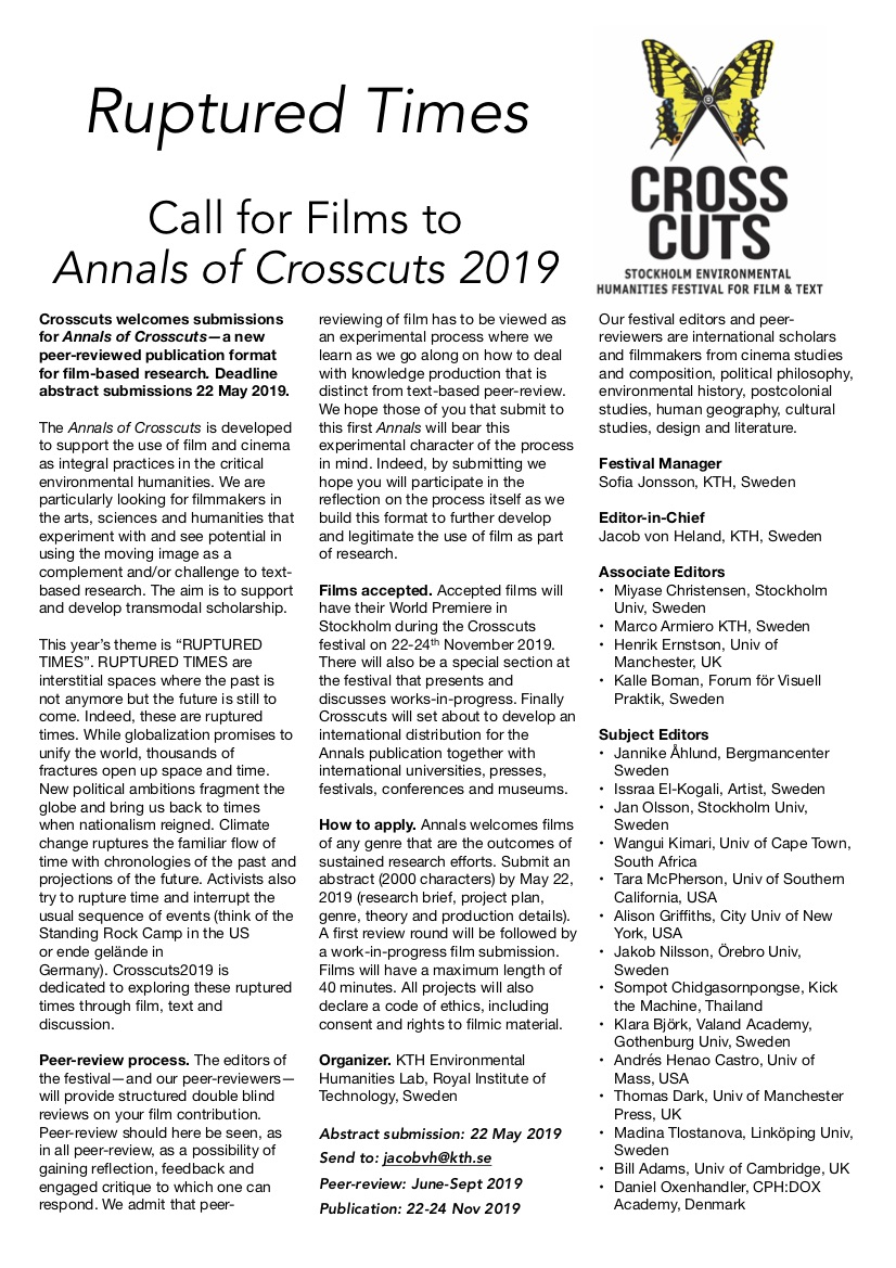 Using film/video in your research? Call for Films Annals of
