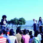 Emile YX? and crew performing on June 16 2012 at Princess Vlei, Cape Town, South Africa.