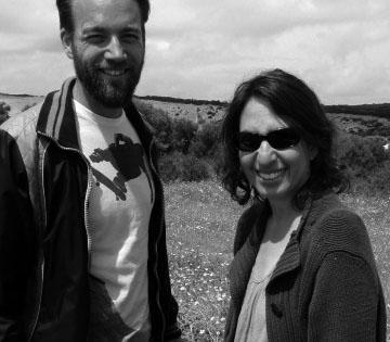 Henrik & Sandie at Macassar Dunes Cape Town 2013 bw
