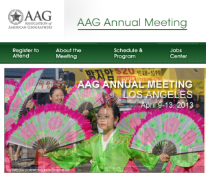 Our project Ways of Knowing Urban Ecologies had several presentations and sessions at AAG 2103.