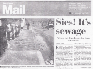 Southern Mail reporting on the urban environment in Cape Town in April 2012.